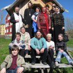Kondopoga chapel with parishioners