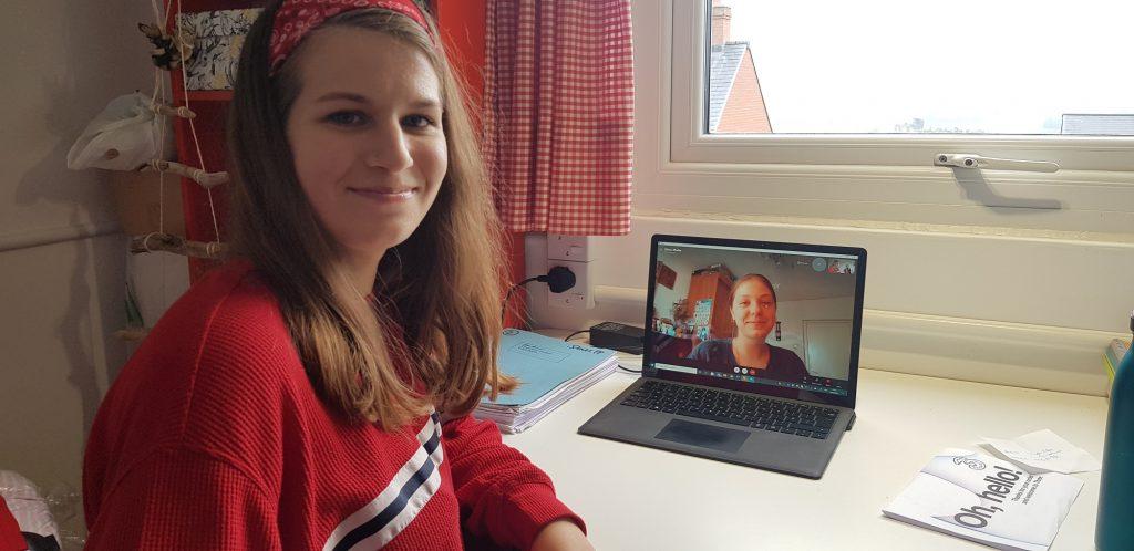 Online teaching in progress